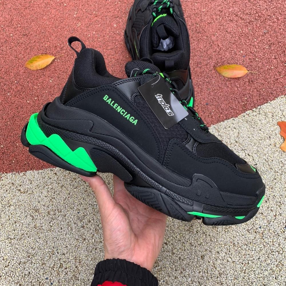 Balenciaga Triple S Sneaker Black Green