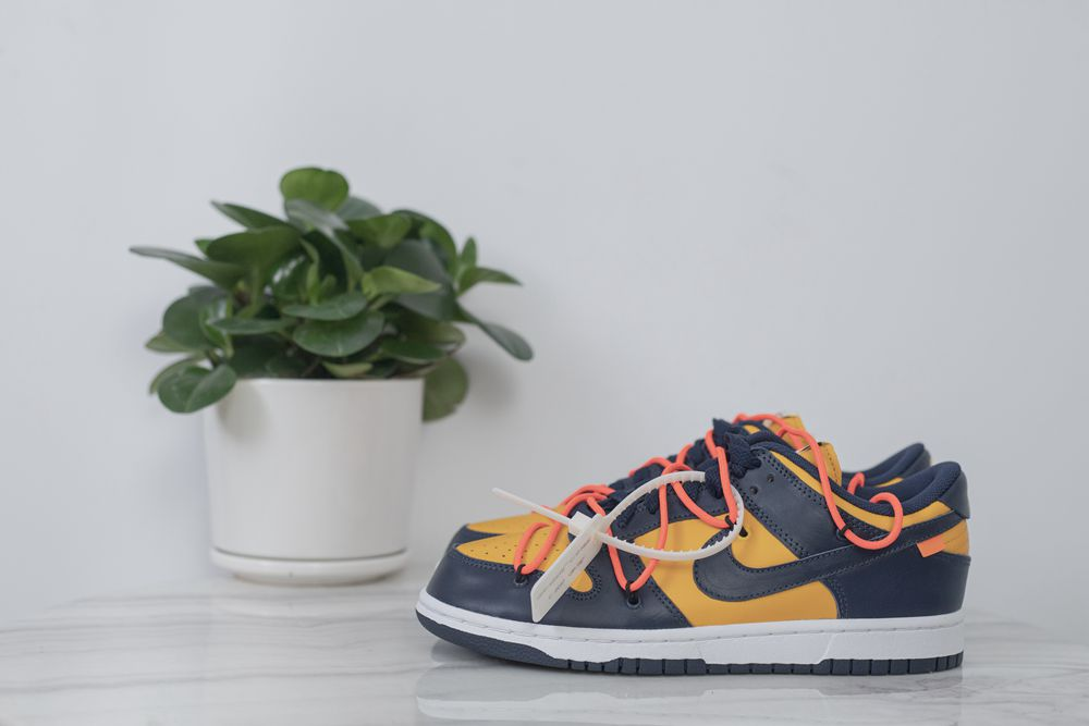 Offwhite x Dunk Low 'University Gold'