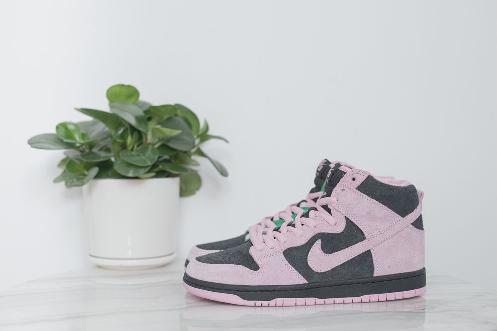 SB Dunk High Pink and Green
