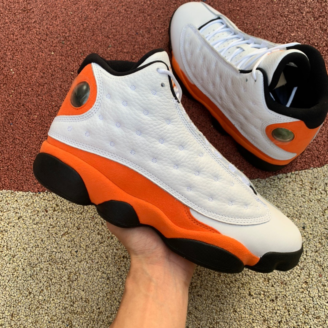 Air Jordan 13 White Orange