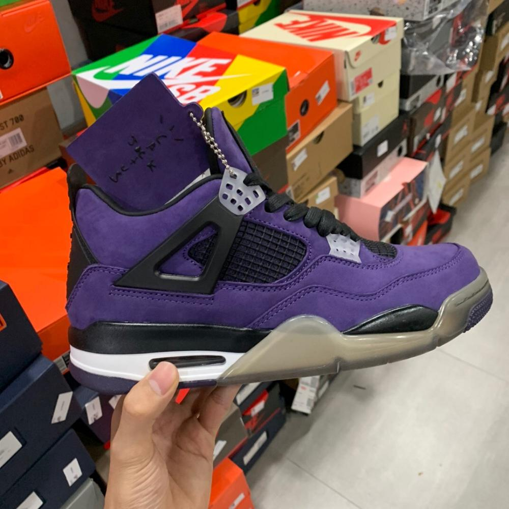 Air Jordan4 purple cactus jack
