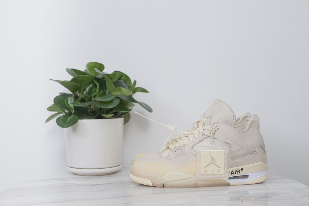 OFF-WHITE x Wmns Air Jordan 4 SP 'Sail'(15-20days ship out)