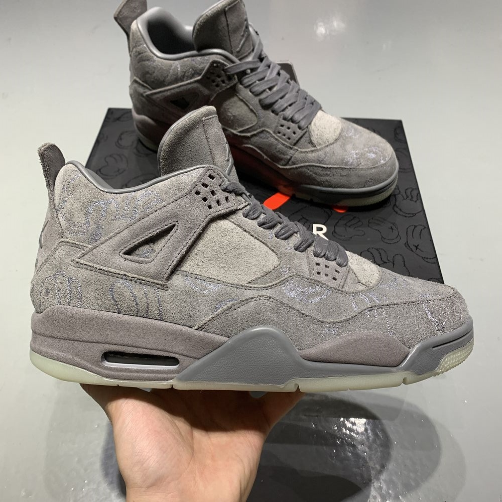 Air Jordan4 4KAWS Grey
