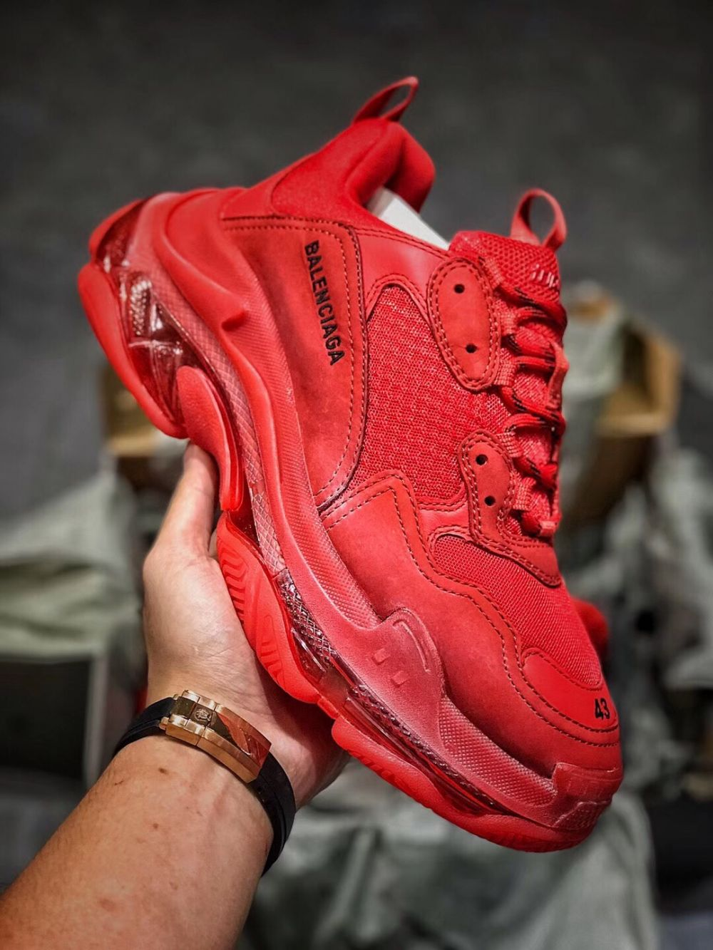 BALENCIAGA triple s 19SS Red